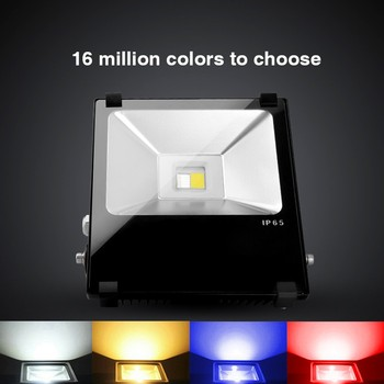 Milight Futt01 Rgbw Led Flood Light Color Changing And Dimming 1 100 Ip65 Outdoor Landscape Lighting Buy Outdoor Led Flood Light Led Outdoor Flood