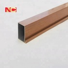 Wood Grain Aluminum Extrusion Profile For Windows and Doors