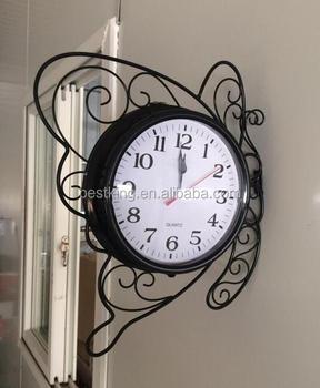 Vintage Métal Papillon Horloge Muralemaison Décoratif Papillon