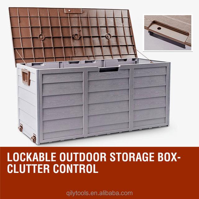 Garden Storage Box Outdoor Storage Box Outdoor Plastic Storage Sheds