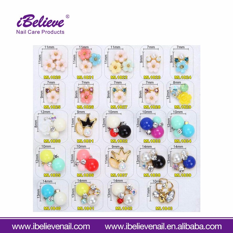 Professional DIY Decoration Beads 3d Half Round Nail Art Pearl For Salon