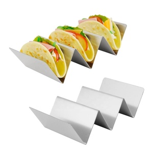 2 Pack Taco Holder Stand, Large Stainless Steel Taco Rack Hold Hard or Soft Taco Shells, Oven Safe Hold 2 or 3 Tacos