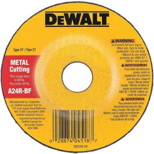 DEWALT DW4518 4-1/2-Inch by 1/8-Inch by 7/8-Inch General Purpose Metal Cutting Wheel