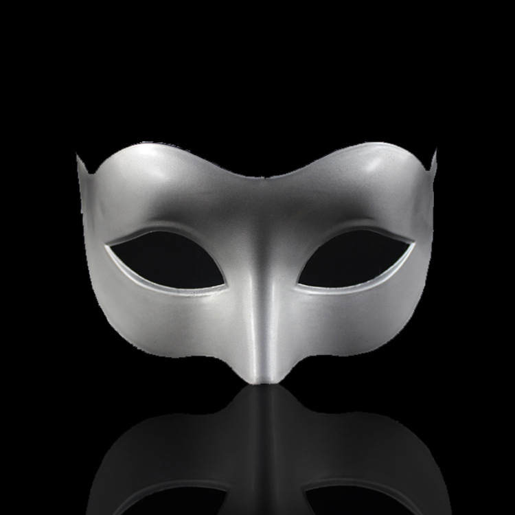 Hot Sell Masquerade Flat Half Face Halloween Decoration Plastic Mask