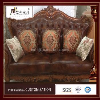 Customized Soft Fashion Stanley Leather Sofa China ,Studded Leather Sofa
