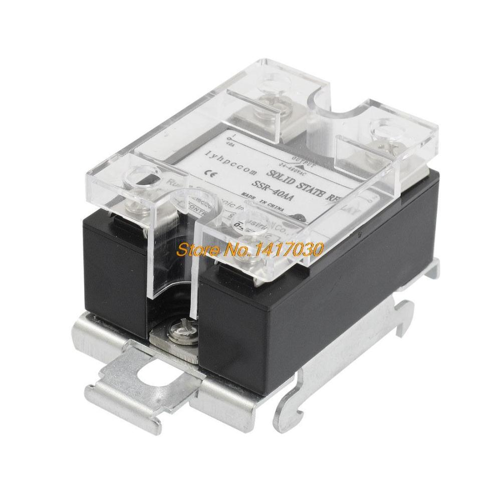 Cheap 57 02 24v Ac Relay Find Deals On Line At Solid State Schematic Get Quotations To Din Rail Mount Covered Ssr 40a 90 280v