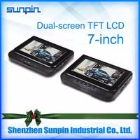 Impecca 7 inch Portable 270 degree Swivel DVD Player Black Car DVD