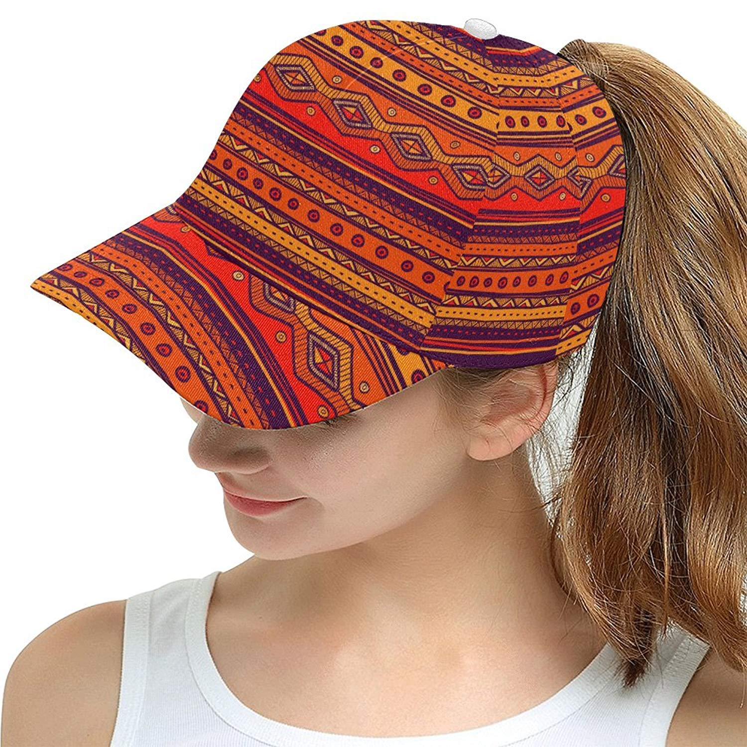 4fe47bd0d3a Get Quotations · African Art Tribal Print Snapback Hat Baseball Cap