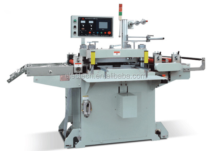 520mm Automatic Label Platen Die Cutting Press Machine For Foil/ Film/ Gasket - Buy Label Die ...