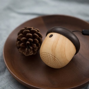 Creative Gifts Nut Shaped Ultra Mini Wooden Bluetooths Speaker