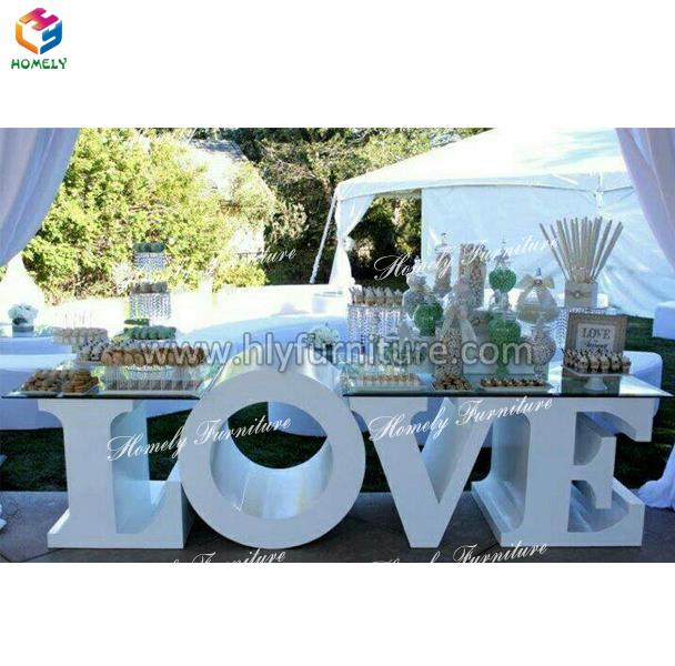 wedding banquet hall baby letter table