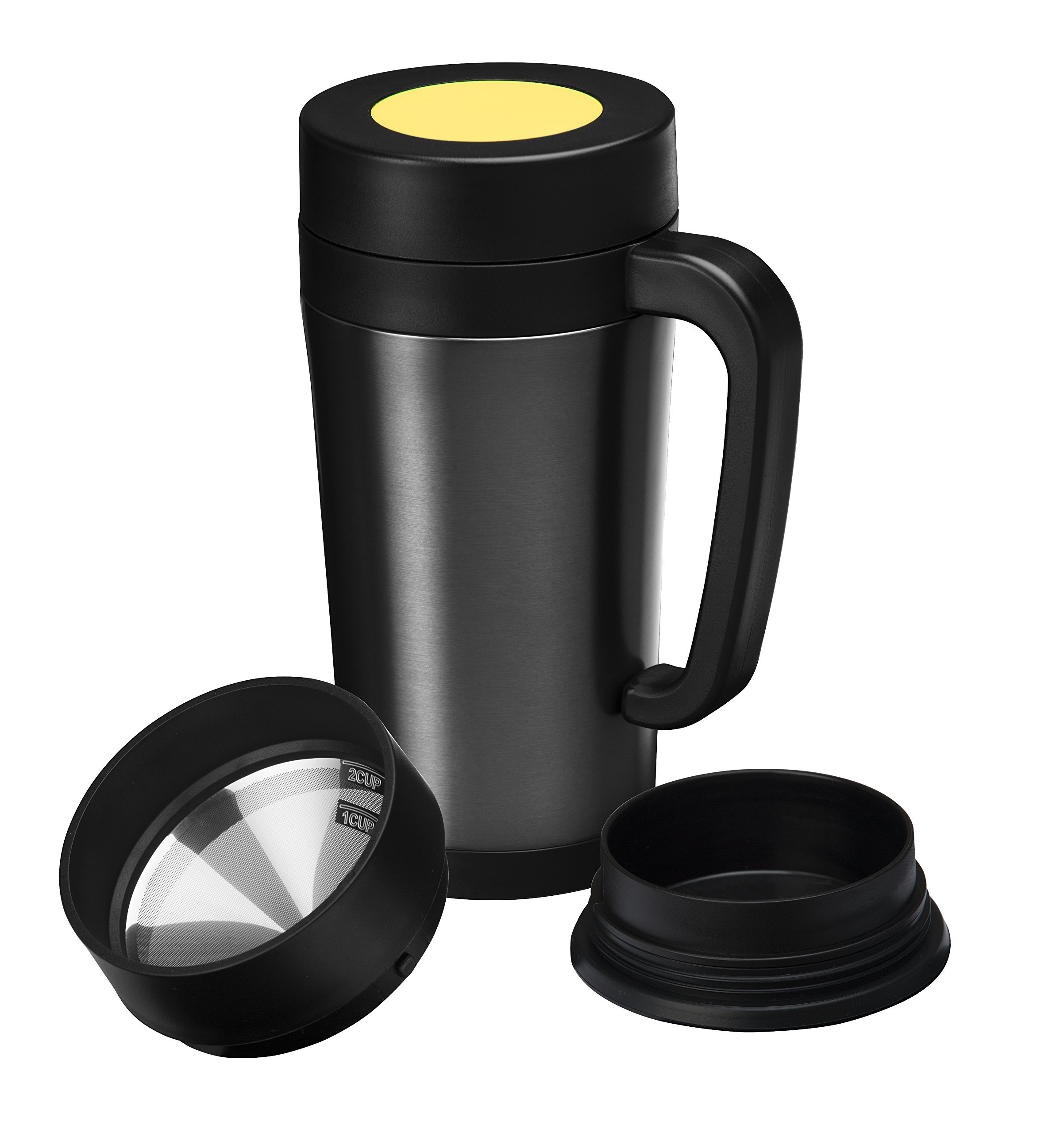 Get Quotations Consumer Ociates Pour Over Coffee Maker Thermal Travel Mug Built In Stainless Steel Dripper Double