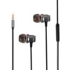 wholesale bass stereo in-ear metal headphone wired earbuds with microphone