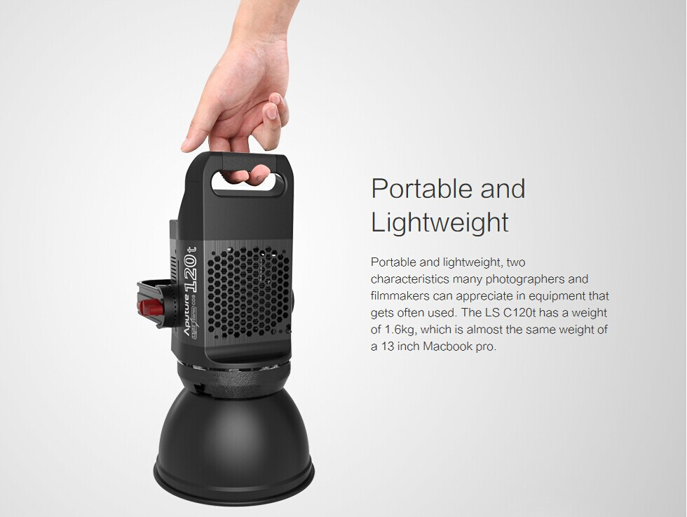 Aputure Light Storm COB 120t CRI97+ 6000K 135W Bowens Mount LED Continuous Video Light with 2.4G Wireless Remote