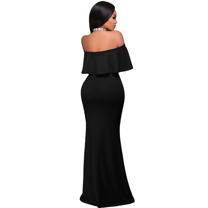 Wholesale Cheap Sexy Style Ruffle Off Shoulder Long Prom Dress