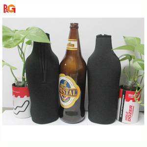 neoprene big beer bottle cooler with zipper