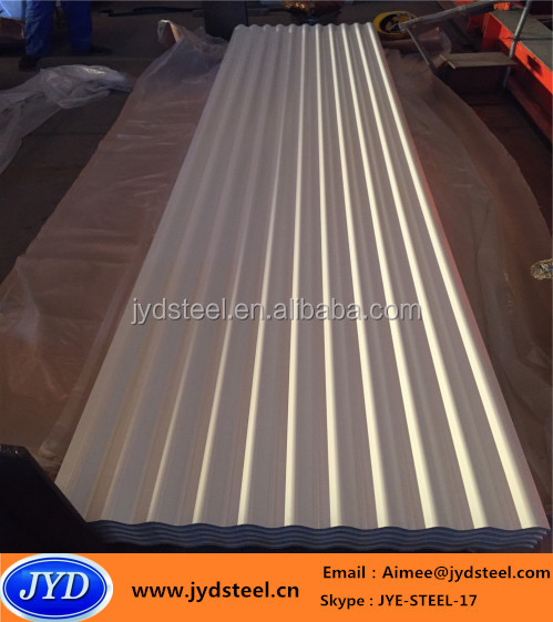 pre-painted corrugated PPGI steel roofing sheet in wave profile