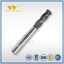 4 Flute Corner Radius with Reduced Neck Unequal Flute Spacing Tungsten Carbide End Mill for Titanium Alloys High Performance Mac