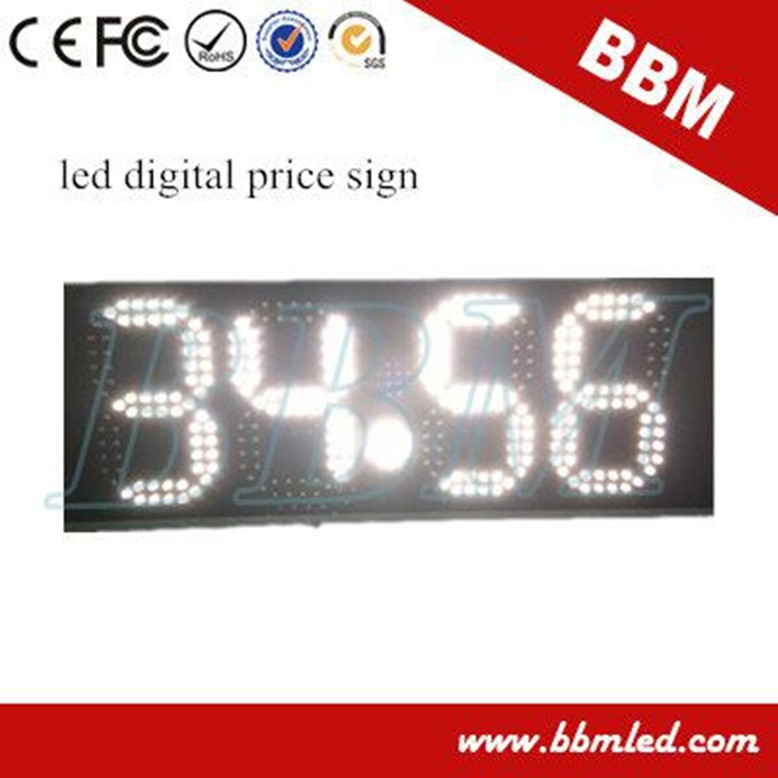 Waterproof 4 digits led sign price gas station