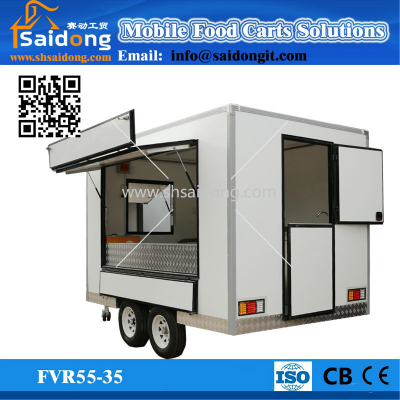c685a7e2bb Big Service Window Food Container Trailer Towing Mobile Food Truck for Sale