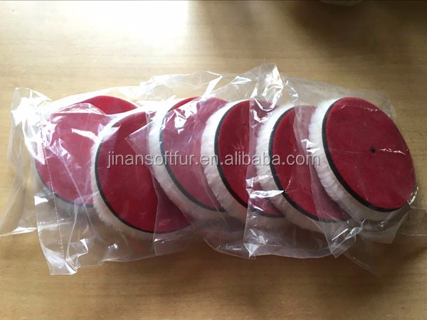 Sheepskin Lamb Wool Buffing Pads For Car Polishing