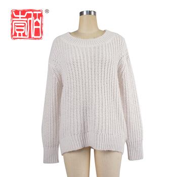 4ead507cb Soltas gola redonda pullover mulheres camisola de malha para as meninas