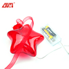Designed transparent china supplier 3D led light hanging decoration glass star balloons