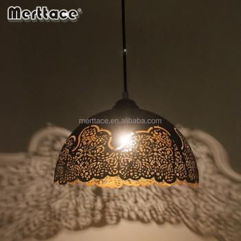 Moroccan Decorative Hanging Pendant Lamp With Iron Etch Finished