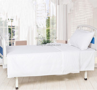 White Twin Size Cheap Cotton Blend Hospital Bed Sheet
