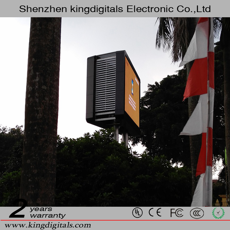 High quality 16x32 Outdoor P10 Advertising Double Sides LED Display