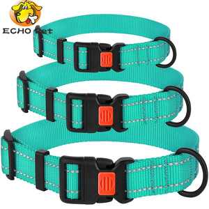 Well Price 3 Sizes 4 Colors Night3M Reflective nylon dog collars