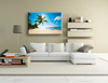 Coconut tree modern scenery wall art painting on canvas for living room