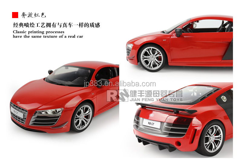 License Radio Control Car Audi R View Radio Control Car RW - Audi r8 6v car