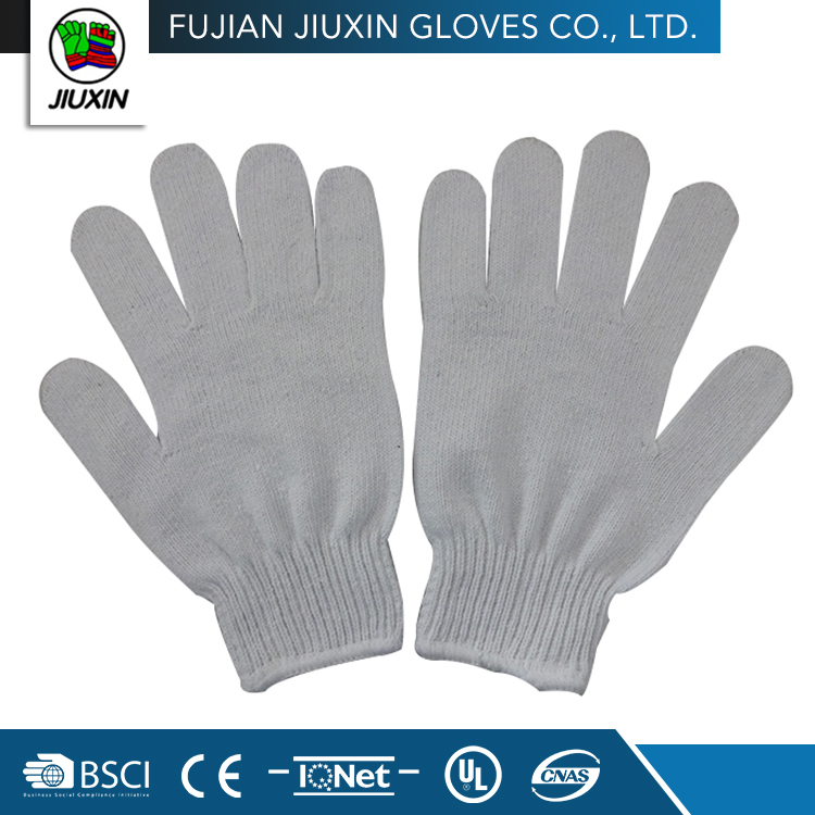 Jiuxin a high level hot sale safety cheap ladies white cotton gloves