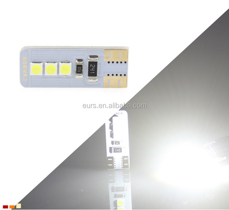 Decode T10 180LM 6000K 6W 12VDC Hot Selling wide light bulb car led door lights