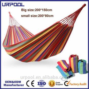 folding cotton 2 person hammock outdoor canvas hammock desk feet hammock
