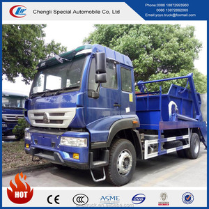 2017 new design Sinotruk HOWO 4x2 Swept-body Refuse Collector Swing Arm Type Garbage Truck with high quality