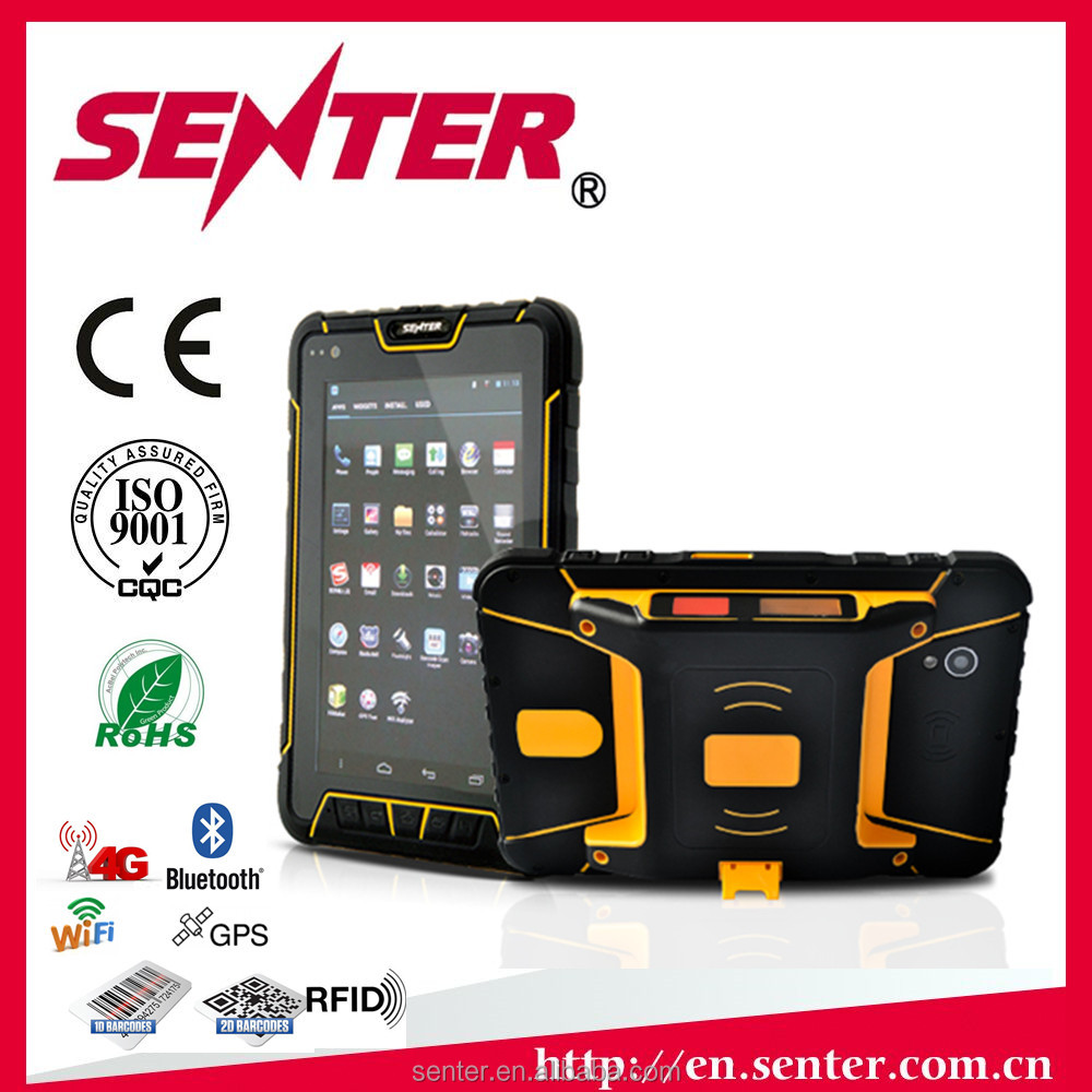 android barcode scanner terminal 4G LTE 7 inch outdoor rugged tablet pc OEM service