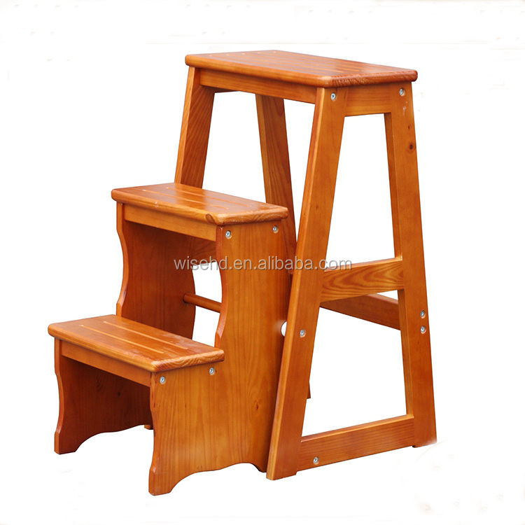 (W-C-437) 3 step convertible wood chair/ladder  sc 1 st  Alibaba : convertible step stool - islam-shia.org