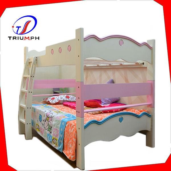 Cheap Modern Bed: Modern Twin Full Wooden Bunk Bed Cheap Bunk Beds