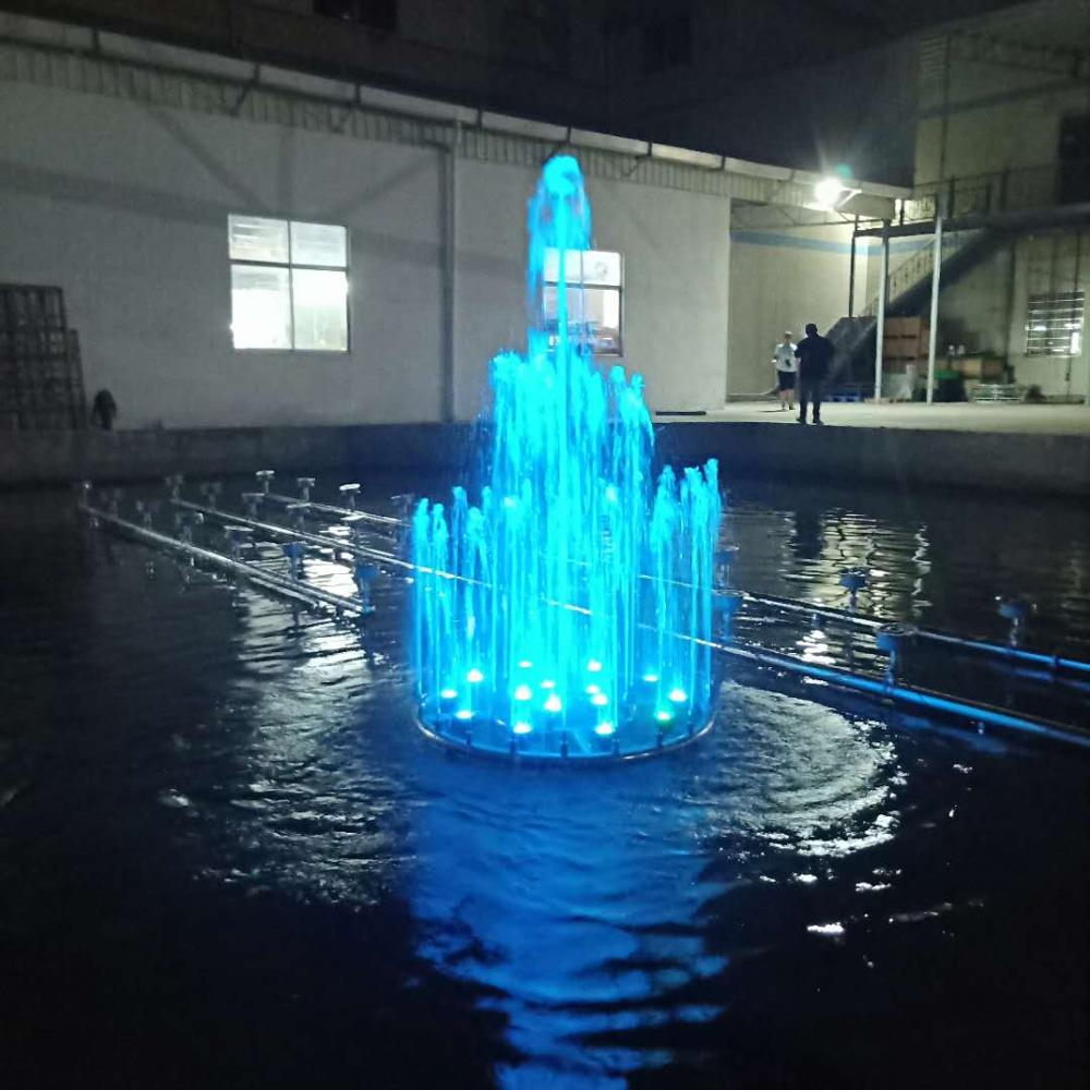 water fountain pumps led lights music controller shinning garden plastic water fountain