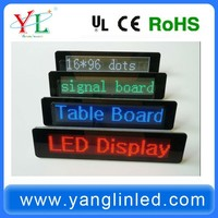 desktop display sign Colorful scrolling text message led display panel