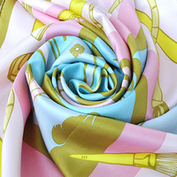 Custom High Quality Hand Painted Silk Square Scarves