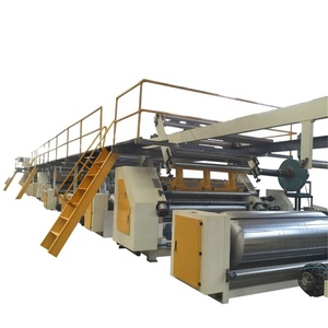 Dongguang canghai used 5ply corrugated carton making machine /electric heating single facer production line