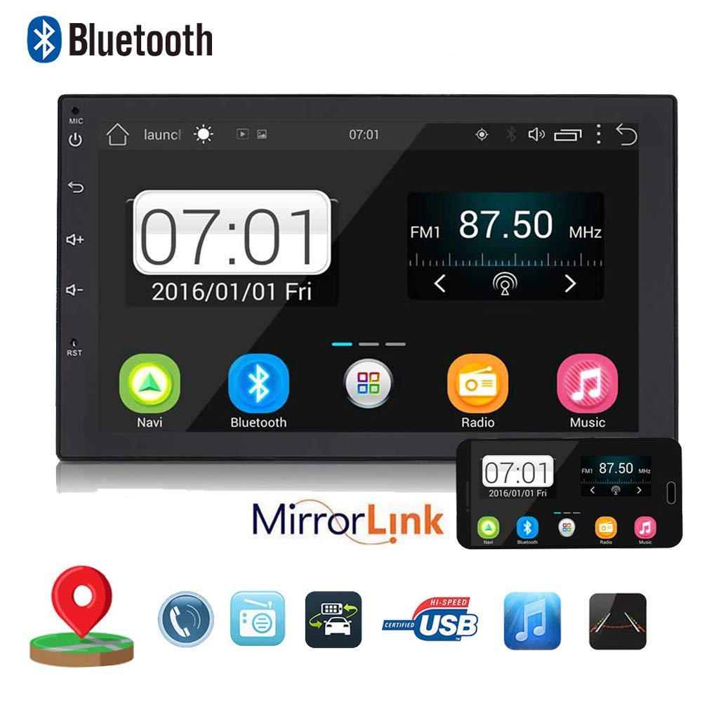 """Backup Camera + Double 2Din 7"""" Touchscreen in Dash Stereo Android Car Navigation Stereo 1G RAM+16G ROM Car Entertainment Multimedia Radio,FM AM Radio/GPS / WiFi/Mirror Link"""