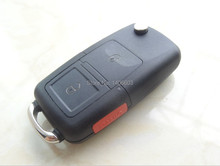 2+1 Buttons Flip Remote Entry Key Case For VW Volkswagen Passat Polo Golf Jetta Bora SEAT Ibiza Leon SKODA Octavia Fabia