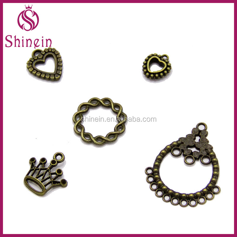 Eco-friendly custom metal charm pendants for jewelry making