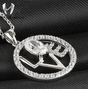 fashionable cubic zirconia jewelry,fake diamond pendant