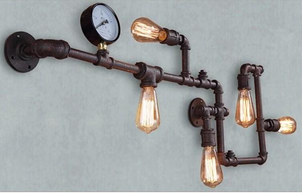 Moderno stile industriale illuminazione tubo di acqua antico