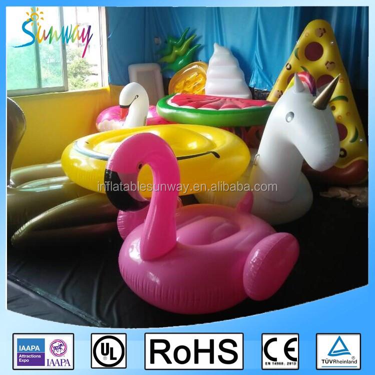 Hoge kwaliteit 6-persoon grote Opblaasbare flamingo/eenhoorn pool float